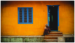 Once upon a time (A Surya Teja) Tags: old woman india streets colorful dreaming thinking past vellore