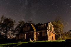Vickery House (Andrew Santoro) Tags: house abandoned halloween night canon way stars long exposure slow massachusetts sigma andrew haunted spooky lazy shutter princeton milky santoro 70d
