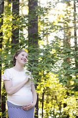 (irina_kra) Tags: life park flowers blue light red portrait people baby green love forest parents young naturallight pregnant maternity 50mm18 momtobe nikond300