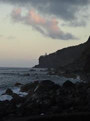 coast (brunolabs) Tags: lighthouse beach portugal coast dusk mystic basalt azores