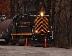 WNY&PA Alco near Franklin, Pa. (cheliman) Tags: railroad century train tracks locomotives alco wnypa