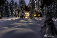 Mazama Lodge.jpg (Dan Sherman) Tags: trees winter light snow mountains cold oregon forest landscape soft nightlights seasons nightshot unitedstates or powder lodge mthood pacificnorthwest pnw mazama winterscape winterscene governmentcamp mazamalodge