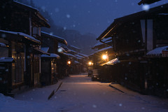 snowing country (k n u l p) Tags: winter snow station japan post sony nagano 長野 narai 奈良井宿 奈良井 sel1670z nez7