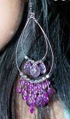 Glimpse of Malibu Purple Earrings K2 P5420-3