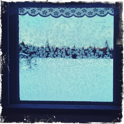 pohjosen konttorin miestenhuoneen ikkunasta