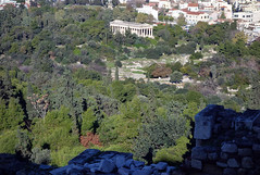 View of the Athenian Agora from the Acropolis