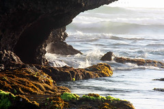 Fearless (Maaar) Tags: bali nature rock landscape flow wave natureart mengeningbeach naturepart