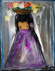 Gallery in the Sun's Exhibits (DeGrazia Gallery in the Sun) Tags: flowers arizona sun ted art girl architecture artist gallery basket desert tucson paintings knife az adobe oil nina palette degrazia catalinas ettore nationalhistoricdistrict