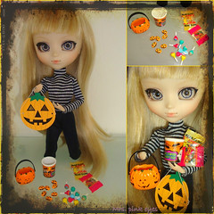 Happy Halloween! (Mrs.Pink Eyes) Tags: life halloween high 5 queen american kawaii groove after dreamy pullip blythe rement raven ever victorique
