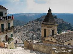 Ragusa (farsergio) Tags: travel italy panorama church landscape europa europe italia belltower chiesa campanile sicily viaggio sicilia ragusa ibla canonixus700 farsergio