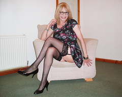 Suspense (Starrynowhere) Tags: stockings glasses legs emma crossdressing tgirl tranny transvestite heels suspenders crossdresser nylons ballantyne transvestism crossdressed dressedasagirl starrynowhere wearingwomensclothes
