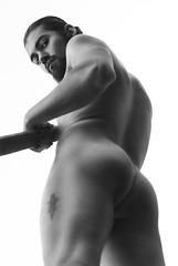 Untitled. (Ivan Contreras C.) Tags: portrait white man black men blanco contrast naked nude body muscle retrato butt negro handsome eros trasero contraste guapo hombre cuerpo desnudo nalgas musculos