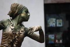 Mimo (Ondeia) Tags: woman face youth wonderful donna ballerina funny hand mimo dancer bergamo bellezza youg bronzo eleganza bronzato