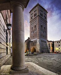 Torre de San Martn (Teruel, Spain) (dleiva) Tags: city espaa tower de la spain san torre martin capital ciudad aragon domingo teruel martn mudejar leiva humanidad patrimonio aragn patrimoniodelahumanidad dleiva