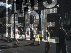 Selfie & mirroring (stejo) Tags: street newyork reflection mirror 7thavenue selfie spegling gatufoto ilobsterit