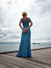 IMG_8817 (Tancha2007) Tags: sea summer knitting dress handmade lace silk knit knitted gown luxury handknitted knitteddress