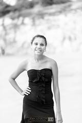 (jrazarcon) Tags: portrait blackandwhite bw beach john nt 85mm palmerston australia darwin nikkor aboriginal northern afs indigenous territory blackdress descendant topend azarcon nikond800 dripstonecliff f18g jrazarcon 2014week47