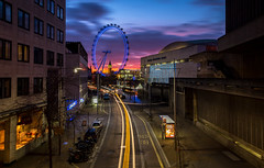 sunset london skyline londoneye southbank waterloo... (Photo: James_Beard on Flickr)