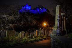 The Graveyard Shift (Colin Myers Photography) Tags: blue castle church graveyard st colin night dark photography lights scotland edinburgh moody edinburghcastle scottish spooky lantern oldtown atmospheric bluelight myers cuthberts stcuthbertschurch scottishcastle nightedinburgh edinburghphotography colinmyersphotography