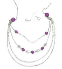 Glimpse of Malibu Purple Necklace P2420-4