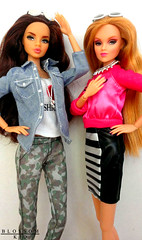 Dynamite Style for Two (J.Garibay) Tags: pink girls holland cute london fashion brooklyn ginger back fantastic perfect kiss doll dolls heart fierce blossoms barbie style lips plastic neve glam brunette dynamite calling lux inc articulated luxe flawless