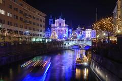 Ljubljana by night (Nstajn) Tags: life christmas xmas city people reflection building history architecture night river lights nikon ngc ljubljana nikkor dslr ljubljanica 18200mmf3556gvr nikonflickraward nikonafs18200mmf3556gdxvr luckyorgood d3100