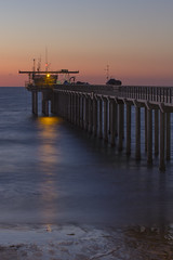 150101 | Twilight pier pressure (Carbon Arc) Tags: ocean california ca new sunset usa coast pier us twilight dock day sundown pacific sandiego jetty united lajolla landing research years states scripps institution oceanography 2015