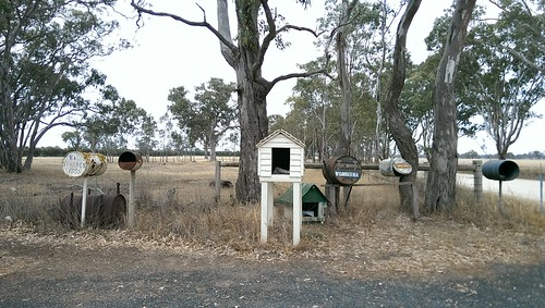 Letterboxes near Wrattonbully, South Australia