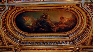 9 - Fontainebleau Visite du chateau Salle du Conseil Plafond
