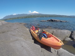 Kayak et volcan