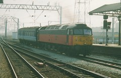 """Parcels Sector Class 47/4, 47634 """"Holbeck"""" (37190 """"Dalzell"""") Tags: spoon brush crewe duff sulzer holbeck class47 type4 47158 47634 redgrey class474 d1751 parcelssector"""