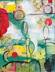 """Materials At Hand"" (Kelly Luna) Tags: paper acrylic mixedmedia"