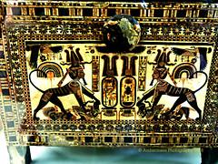 Tutankhamun's Wooden Chest (Amberinsea Photography) Tags: museum egypt cairo tutankhamen tutankhamun cairomuseum sphinxes woodenchest treasuresofancientegypt thecairomuseum amberinseaphotography