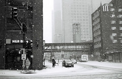 South 9th Street and 2nd Avenue South, facing north (Passej) Tags: winter minnesota minneapolis winterstorm downtownminneapolis stolafcatholicchurch