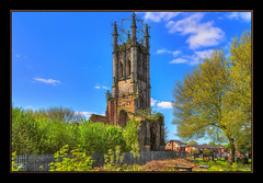 I'm Still Standing (Kevin From Manchester) Tags: sky church architecture manchester northwest lancashire historical hdr