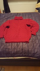 Red hot turtleneck sweater (Mytwist) Tags: classic wool fashion vintage knitting craft style passion knitted pullover authentic laine vouge mytwist