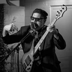 Old School Rocker (HJharland5) Tags: ohio summer people blackandwhite musician music monochrome evening concert guitar cleveland band singer rocknroll performer