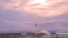 La mer (Amanclos) Tags: longexposure sea wallpaper mer seascape water clouds canon long waves sigma temps vague vagues waterscape tempte mauvais portlanouvelle mauvaistemps canoneos5dmarkiii