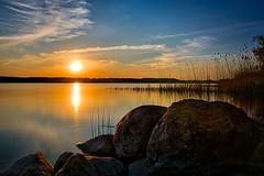 Sundown at Hemmelsdorfer Lake - Sonnenuntergang am Hemmelsdorfer See #Explored# (martintimmann) Tags: longexposure sun lake see sonnenuntergang sundown himmel balticsea explore sonne ostsee gegenlicht langzeitbelichtung