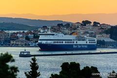 BLUE STAR 1 (Giannis Soultanis Photography) Tags: travel blue sunset sea lighthouse ferry port boat town ship traveller mytilene travelphotography bluestarferries shipspotting shipphotography bluestar1 mytileneport shiplover