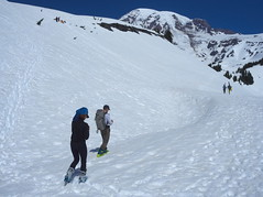 Avalanche beacon training (Sergiy Matusevych) Tags: park camp mountain snow training paradise hiking mount climbing trail national rainier mountaineering beacon muir avalanche