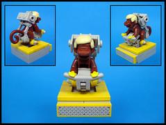 Captain Simian's new command chair (Karf Oohlu) Tags: monkey lego seat moc commandchair
