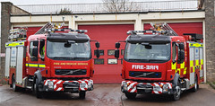 Alnwick Pumps (firepicx) Tags: rescue water fire engine pump northumberland service ladder emergency tender brigade 999 nk59exn nk62egj