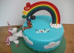 Rainbow & Unicorn (Hardcore Prawn) Tags: birthday cake rainbow celebration handcrafted unicorn fondant gumpaste glutenfree