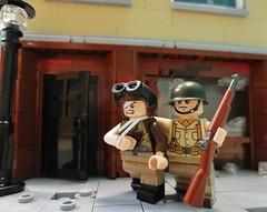 WWII Rescue Scene (WisrthanU) Tags: lego military wwii scene minifigs crazyarms brickarms