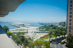 Museu do Amanh (Luz Rosa Photography) Tags: 2016 brazil concept rio riodejaneiro transportation vlt architecture bay bridge building byland carioca cidadeolimpica city construction de dock fromabove games horizontal janeiro mauaplaza museudoamanh museum museumoftomorrow olympiccity olympicgames olympics outdoors photo photograph photography plaza port praamau rio2016 sea sightseeing sign site tomorrow tourism tram
