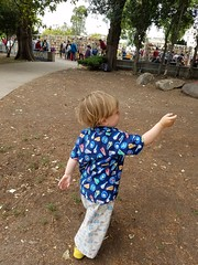 Excited about a small truck (quinn.anya) Tags: sam toddler excited lacuna pointing hand bayareabookfestival