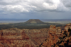 De Grand Canyon, landschap bij de oost uitgang, Arizona VS 1992 (wally nelemans) Tags: arizona usa grandcanyon vs watchtower wachttoren southernrim zuidrand 1992panorama