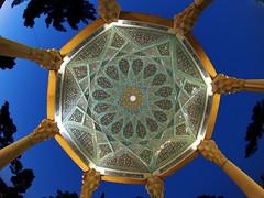 Octagonal pavilion (claying) Tags: iran tomb olympus panasonic pavilion shiraz hafez octagon 墓 em5 伊朗 設拉子 aramgahe 八角形 lumixgfisheye8mmf35 哈菲茲