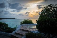 Jacuzzi Sunset (Ashdon McFall) Tags: ocean travel blue sunset sea vacation sky orange cloud sun holiday beach water yellow clouds relax amazing sand nikon aqua sundown free jacuzzi 1855 tranquil d3200